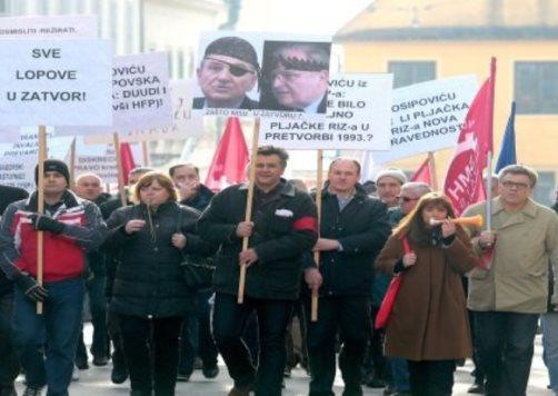 Prosvjed radnika RIZ-Odašiljači