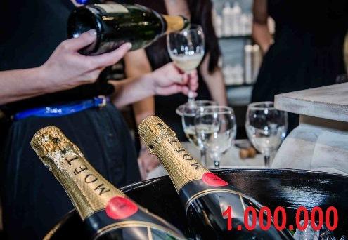 Šampanjac za 1 mil